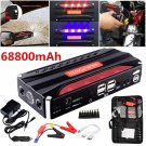 68800mAh Jump Starter Battery Power Bank Portable Emergency Charge Adapter New