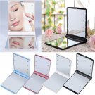 LED Make Up Mirror Cosmetic Mirror Folding Portable Compact Pocket Gift