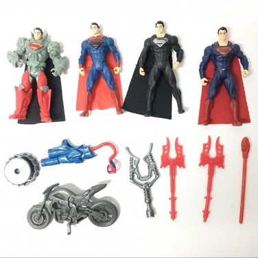 4 Pcs New DC Comics SUPERMAN Man Of Steel 3.75in.Series Action Figure Toys