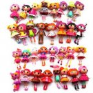 Random Pick 5 Pcs mini Lalaloopsy Collection Dolls Figure Xmas Girls Cute Gifts