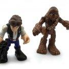 2x Playskool Star Wars Hasbro Galactic Heroes HAN SOLO & CHEWBACCA action Figure
