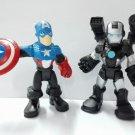 """PlaySkool Heroes CAPTAIN AMERICA & Iron-Man 2.5"""" Marvel Adventures Figure HA192"""