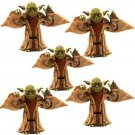 5 Pcs/Lot Star Wars Yoda Jedi Master 1999 Episode 1 Figures Super Rare