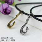 2x Movie Moana Princess Maui Fish Hook Cosplay Necklaces Pendant Prop Jewelry