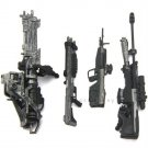 4pcs Weapons Accessories Marksman Sniper Rifle Machine RARE Turret Halo Figures