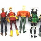 6Pcs DC Comics Universe Young Justice Jul Aquaman CHESHIRES uperBoy Figure FW590