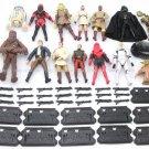 14pcs HASBRO Movie STAR WARS Chewbacca Han solo Yoda Driod Action Figure S450