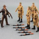 Lot 6 x Indiana Jones FigureS With Lot Accessory As Picture 3.75 Inches