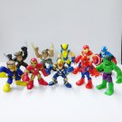 10 Pcs Marvel Super Hero Squad Spider Man Iron Man X-Men Legends Figure Toys