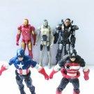 Marvel Universe Captain America Iron man Ghost Armor & War Machine 5Pcs Figures