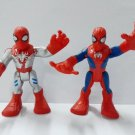 2pcs Playskool Heroes Marvel SPIDER-MAN & SILVER SUIT SPIDERMAN Action Figures