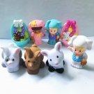 Lot Fisher Price Little People 3 People & 5 Animal Dollhouse Farm Barn figure