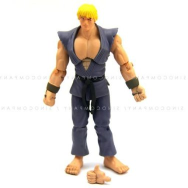 """STRONG JAZWARES STREET FIGHTER Collection KEN 4"""" ACTION FIGURE toy"""