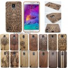 Real Natural Wood Bamboo Case Back Cover+Film for Samsung Galaxy S8 Note 5 4 3