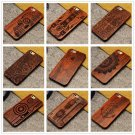 Natural Wood Wooden Bamboo Hard Case Back Cover+PC Bumper For iPhone 8 7 Plus