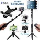 Bluetooth Selfie Stick Monopod Tripod+Tablet  Holder for iPad 2 3 4/Mini iPhone7