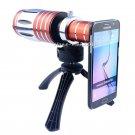 50X Zoom Telescope Camera Lens+Tripod Case For Samsung Galaxy S8 S7 Edge S5 Neo
