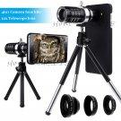 Black 12x Zoom Telescope Camera Lens+Fisheye Macro For Samsung Galaxy S8/Note 5