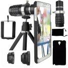 Black 12x Zoom Telephoto Camera Lens+Fisheye Macro For Samsung Galaxy S8/S8+Plus