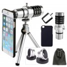 4in1 12x Zoom Telephoto Camera Lens+Fisheye Wide Macro Lens For iPhone 7 7 Plus