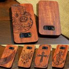 For Samsung GALAXY S8 & S8 Plus Natural Wooden Wood Bamboo &PC Phone Case Cover