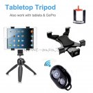 Tripod+Tablet Mount Holder+Bluetooth Shutter for iPad 2 3 4 Air 2/1 iPhone 8 6s