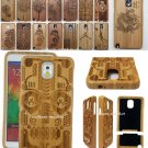 Real Natural Wood Bamboo Hard Case Cover for Samsung Galaxy Note 5 N9200