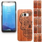 Luxury Bamboo Wooden Curved Hard Case+PC Cover For Samsung Galaxy S8 / S8 Plus