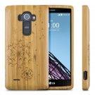 Natural Dandelion Wood Bamboo Hard Case Back Cover For LG G5/G4/G3/G2 Cover