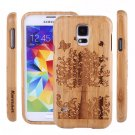 Butterfly Tree Wood Bamboo Case Cover for Samsung Galaxy S6 /  S4 Mini i9190