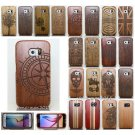 Genuine Natural Wood Bamboo Case Back Cover for Samsung Galaxy S8+Plus S6 Note 5