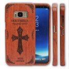 Natural Carved Bamboo Wood Case Combo Cover For Samsung Galaxy S8/S8+Plus Note 8