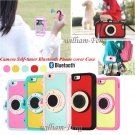 Bluetooth Camera Control Shutter Silicon Phone Case for iPhone 6 6S Samsung S6