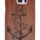 Anchor Natural Wood Bamboo Hard Case Cover for Samsung Galaxy S8/S7 Edge/Note 8