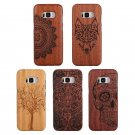 Authentic Carved Bamboo Wood Case Combo Cover For Samsung Galaxy S7 / S8+ Plus