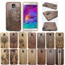 Nautral Wood Bamboo Case Back Cover for Samsung Galaxy Note 3/4/5 S7 Edge S8 S6