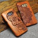 Genuine Handmade Hard Wood Case For Samsung S8 S7 Edge Note 5 Wooden Back Cover