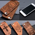 New Real Natural Wooden Wood Bamboo Phone Case Protect Cover For iPhone 7/7Plus