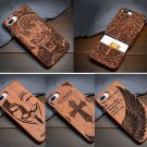 Real Natural Wooden Wood Bamboo Phone Case For iPhone 7/7Plus/6s/6s Plus/SE