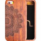 Natural Wooden Bamboo Carving Case Phone Cover for Apple iPhone 6 6s 7 Plus SE