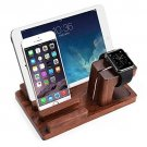 3in1 Wood Charge Dock Stand for Apple Watch iPhone 8 i Pad Pro Samsung Tab S3
