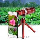 18X Zoom Mobile Phone Telescope Camera Lens Tripod Case For iPhone 7 7 Plus 6s 5
