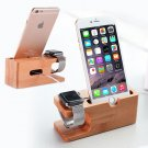Bamboo Wood Charging Station Charger Dock Stand Holder For Apple Watch iPhone 7