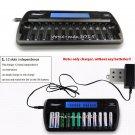 US/UK/EU/AU Plug 12-Slot 12-Bay DC1212 Fast LCD Battery Charger AA AAA NiMH NiCd