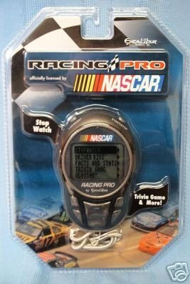 NASCAR Racing Pro Handheld Game and Stopwatch