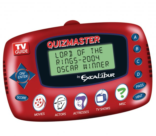 Electronic Travel Games: TV Guide Quiz Master by Excalibur