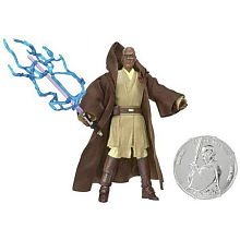 Star Wars Mace Windu Figure with Exclusive Collector Coin