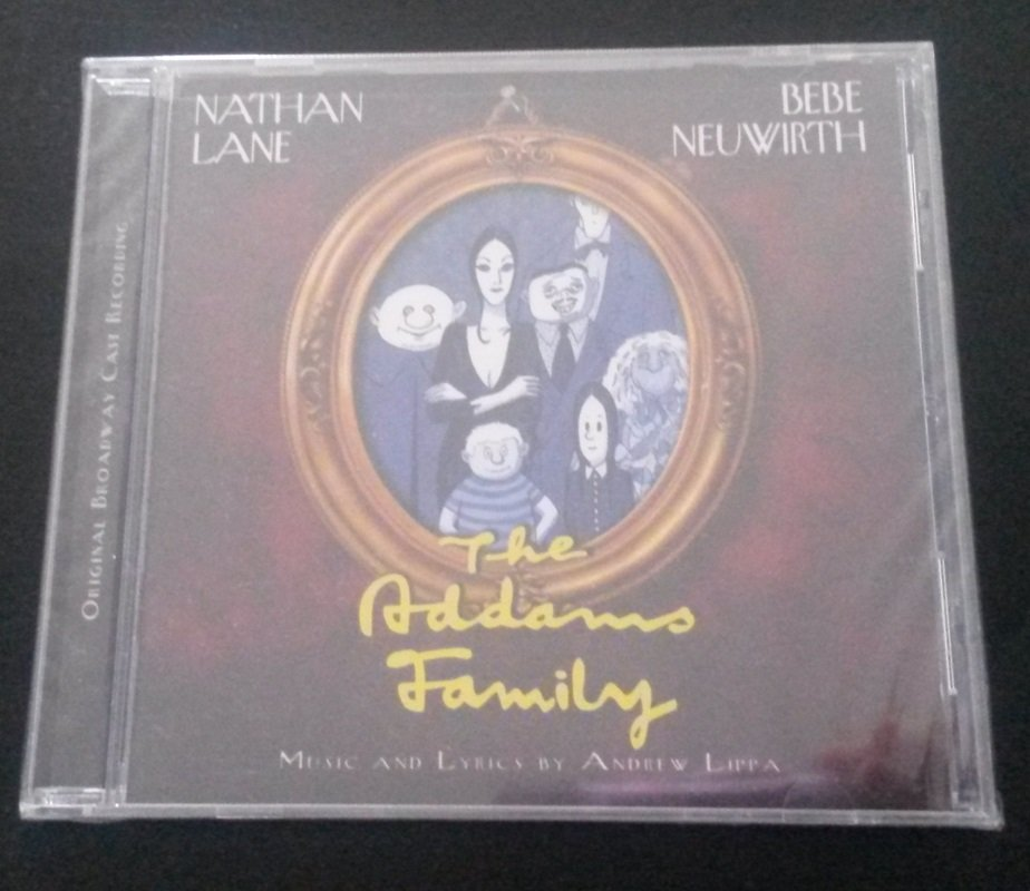 The Addams Family Original Broadway Cast Musical CD Nathan Lane Bebe Neuwirth Andrew Lippa