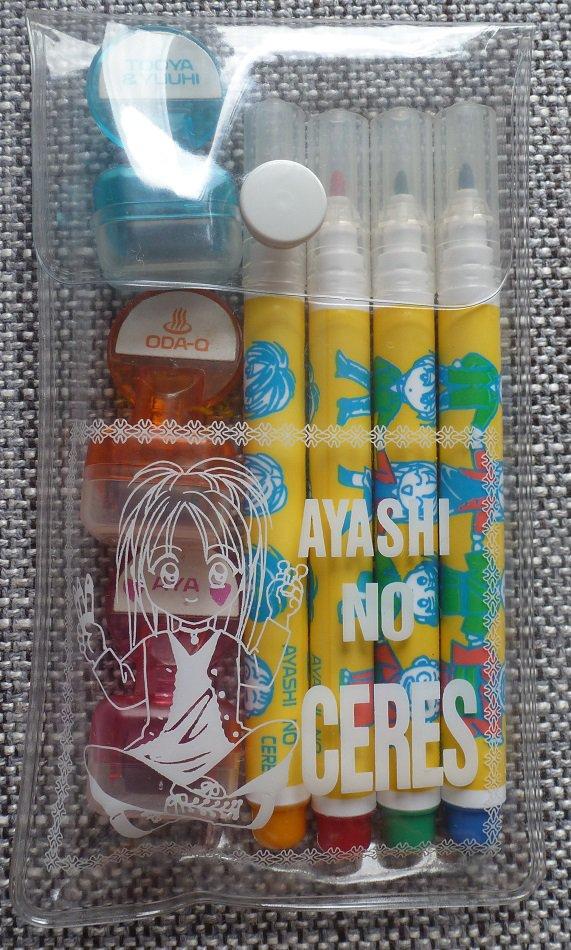 Ayashi no Ceres Markers and Stamp Set Celestial Legend Watase Yuu Blue Red Organge Shoujo