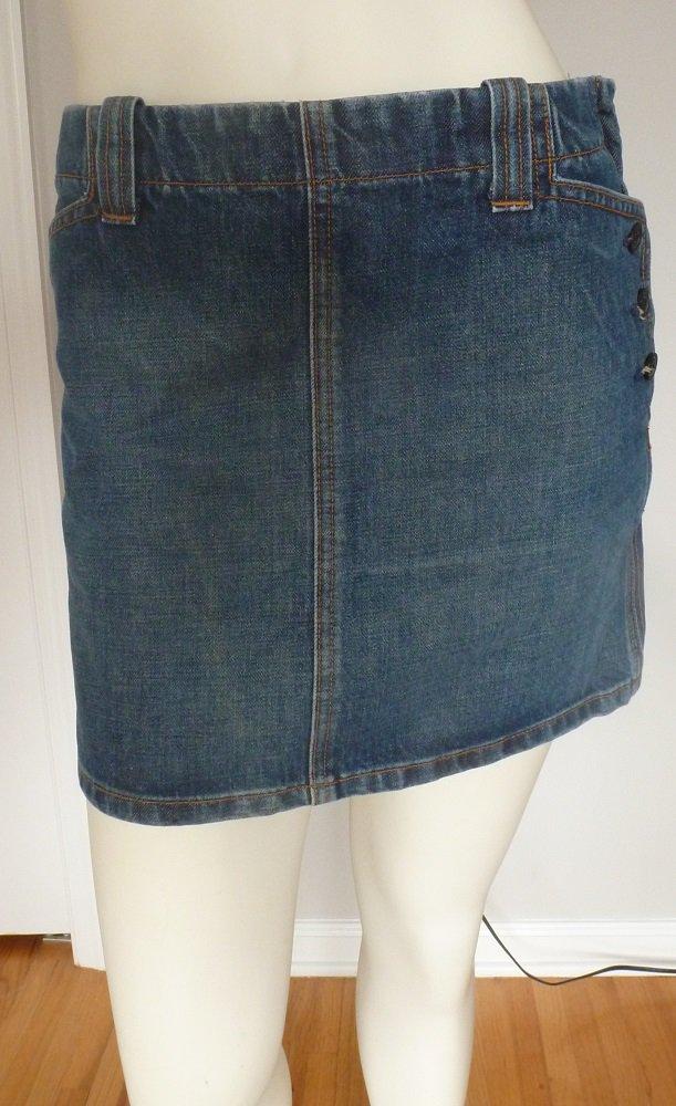 J. Crew Blue Denim Mini Skirt in Size Regular 0 Pocket Side Zipper Antique Blue